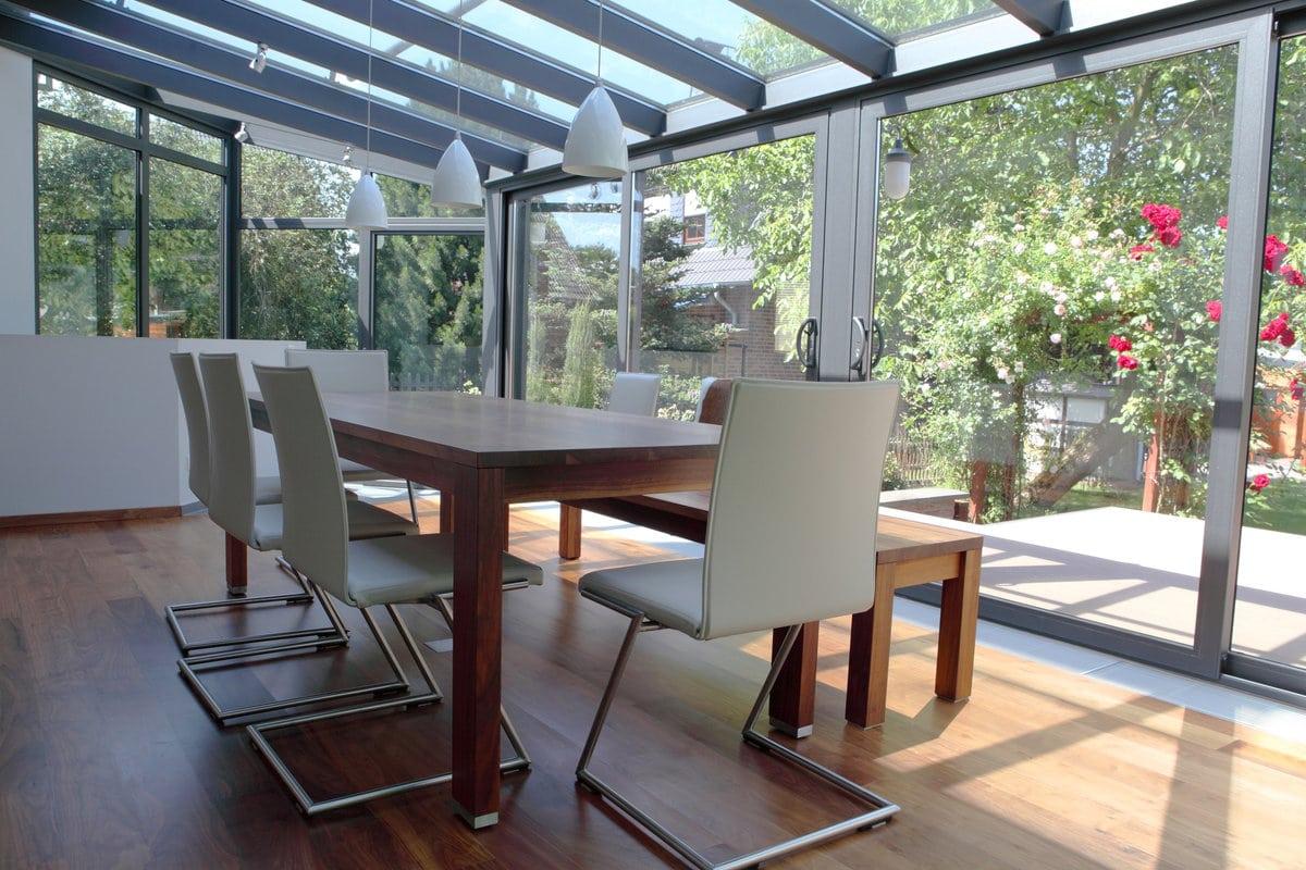 veranda avec profil en aluminium