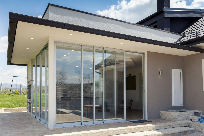baie vitree veranda