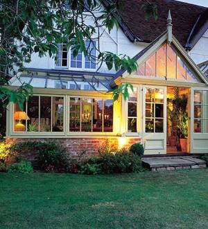 veranda rustique bois